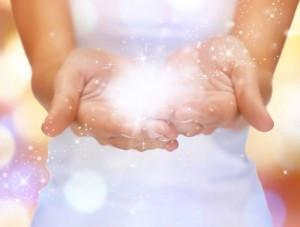 glitter i händerna